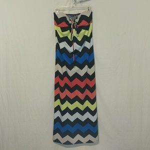 Cute Dress Chevron Maxi Summer Dress ! S !
